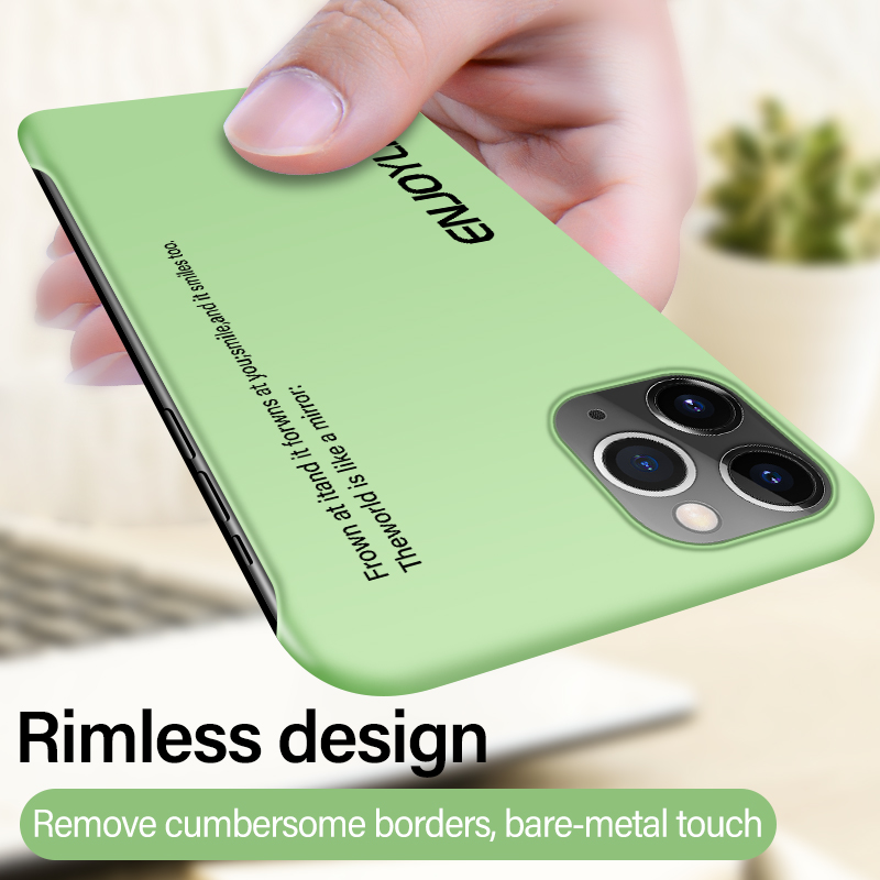 Ultra-thin Rimless Matte Hard PC Phone Case For iPhone 11 Pro Max SE XSmax XR XS X 8 7 6s 6 Plus Colorful Painted Frosted Cover