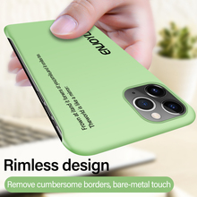 Ultra-thin Rimless Matte Hard PC Phone Case For iPhone 11 Pro Max SE XSmax XR XS X 8 7 6s 6 Plus Colorful Painted Frosted Cover ultra thin magnetic hard matte pc phone case for iphone 11 pro max se xsmax xr xs x 8 7 6s 6 plus frosted protection cover shell