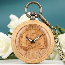 Buy Bamboo Pocket Watch Men Wooden Fish Dial Women Clock High Quality Necklace Chain Pendant Watch Christmas Gift reloj de bolsillo directly from merchant!