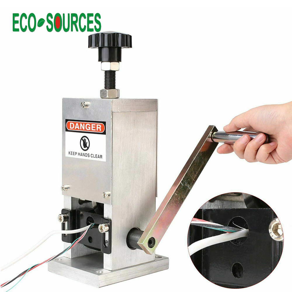 ECOSOURCES Manual Cable Stripper Desktop Copper Wire Stripping Machine Wire Stripper for Recycling Scrap Copper Wire