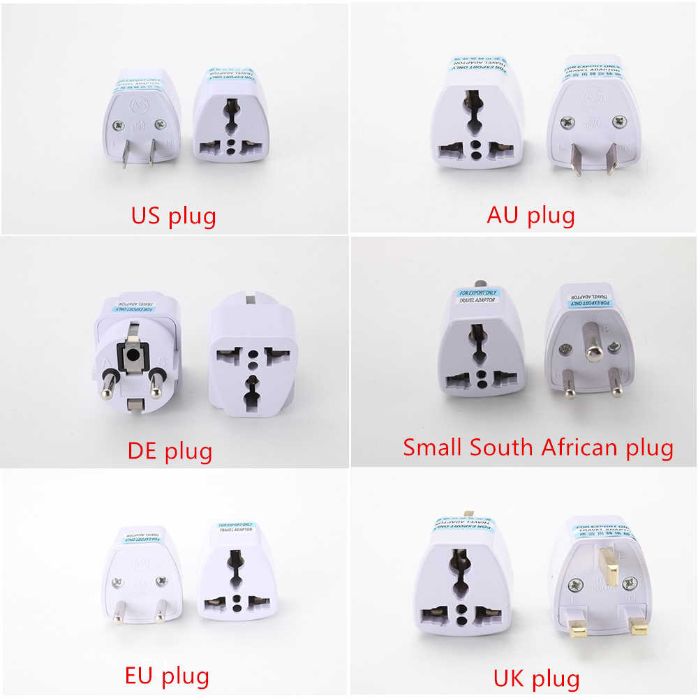 1 Pc Universele Us Uk Au Om Eu Plug Usa Om Euro Europa Travel Wall Ac Power Charger Outlet Adapter converter 2 Ronde Pin Socket
