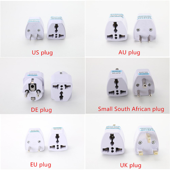 цена на 1PC Universal US UK AU To EU Plug USA To Euro Europe Travel Wall AC Power Charger Outlet Adapter Converter 2 Round Pin Socket
