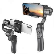 Estabilizador de câmera para celular h4, estabilizador de cardan de mão de 3 eixos anti balanço para celular smartphone, estabilizador de ação