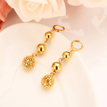 LOVELY Beads Earrings for Women/Girls Gold Color Ball Earing Jewelry Gifts African,Indonesia,Nigeria,Congo,Arab Earring PARTY(China)