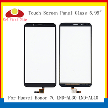 10Pcs/lot For Huawei Honor 7C Touch Panel Sensor Digitizer Front Glass LND-AL30 LND-AL40 Screen