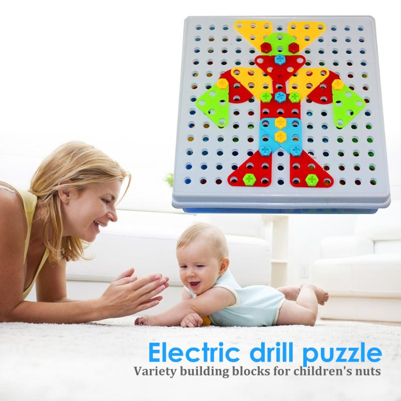 Children Toys Electric Drill Nut Assembled Tool Match Tool Kids Puzzle Assembled Building Block Sets Toys Boys Gifts