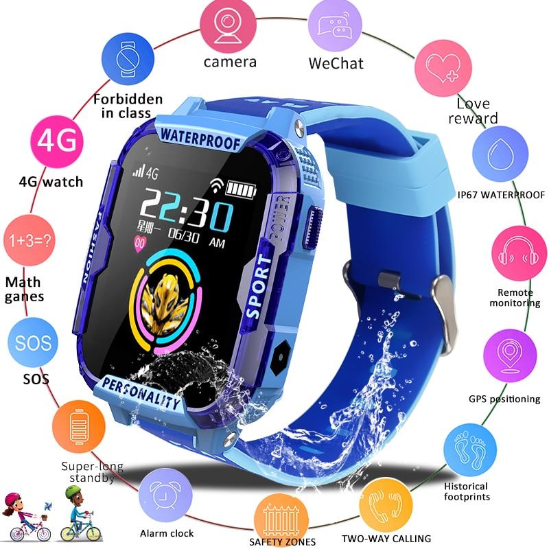 LIGE 2019 Nova 4G Crianças Relógio Inteligente Chamada De Emergência SOS Criança smartwatch GPS de Rastreamento De Posicionamento IP67 Relógio À Prova D' Água Garoto
