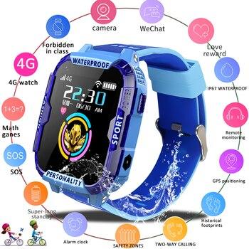 LIGE 2019 nowy 4G dziecięcy smart Watch dziecko SOS połączenie alarmowe smartwatch GPS śledzenie pozycjonowania w IP67 wodoodporny zegarek dla dzieci