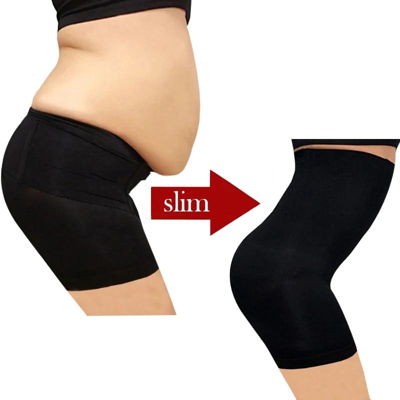 Women Tummy Control High-Waisted Shapewear Pants Slim Body Shaper Underwear