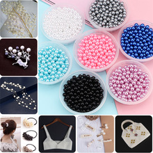 50-400Pcs 3-14mm No Hole Round Plastic Acrylic ABS Lmitation Pearl Beads Charm Loose Beads Counter Jewelry Findings Making
