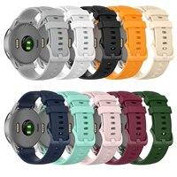 18mm 20mm 22mm Silikon Strap für Samsung Galaxy Uhr Aktive 2 Aktive 3 Getriebe S2 Strap für huawei GT2 Pro Amazfit bip Armband