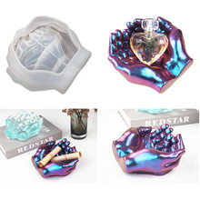 DIY Ashtray Epoxy Crystal Resin Silicone Mold Two-hand Model Hand Dish Ashtray Mirror Epoxy Silicone Mold