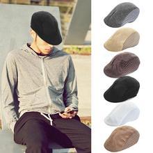 Men Beret Flat Cap Beret Vintage Herringbone Gatsby Linen Beret Hat Newsboy Beret Hat Spring Flat Peaked Beret Hats Golf Hat 4