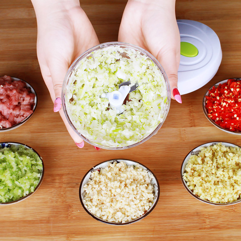 H1a0ee8a10dc54161be18ac8897545278r Multifunction Hand Pull Food Chopper Vegetable Fruit Slicer Meat Grinder Nuts Onions Chopper Mincer Blender Mixer Kitchen Tools