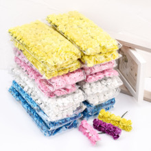 144PCS/lot 1.5cm Mini Paper Rose Artificial Flowers Hands For Wedding Decoration  Scrapbooking Small Fake Flower Bouquet such small hands