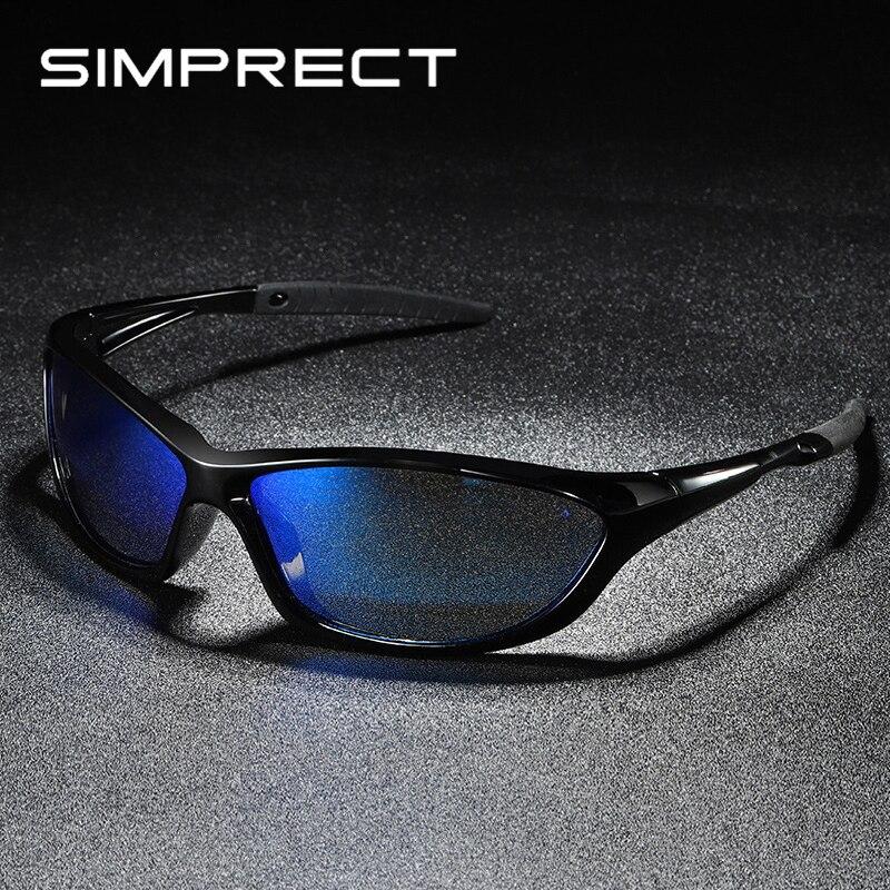 Simprect novo polarizado óculos de sol masculino 2019 espelho retro óculos de sol quadrado motorista anti-reflexo vintage óculos de sol para homens oculos