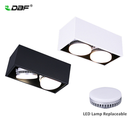 [DBF]Angle Adjustable LED Surface Mount Downlight 14W/18W/24W+ Replaceable GX5.3 LED Lamp AC85-265V LED Ceiling Spot Light Decor