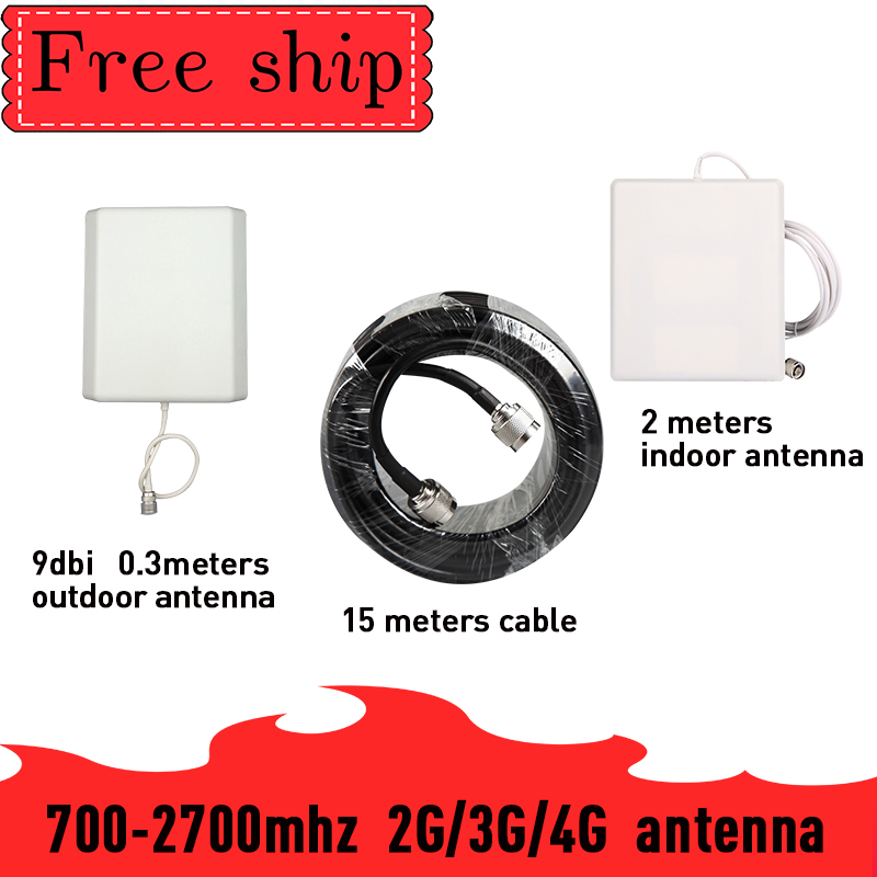 Outdoor 9 Dbi Panel Antenna CDMA UMTS GSM 700~2700 Mhz  Gain 9dbi For Cell Phone Booster Repeater Indoor Panel Antenna With 2m Cable