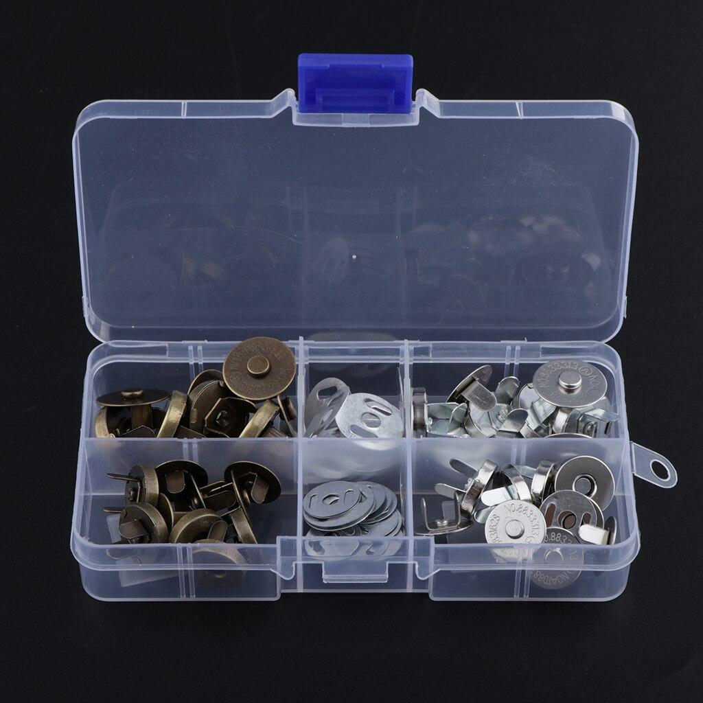 20 наборов магнитных пуговиц для шитья пуговиц, вязание для сумок, кожаных сумок
