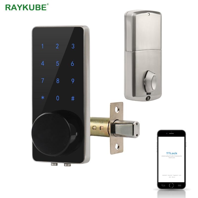 Bluetooth Electronic Door Lock Deadbolt Mobil Phone TT Lock APP Keyless Entry Intelligent Door Lock For Home With Gateway Wifi