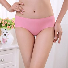 Linbaiway Sexy Women Seamless Panties Solid Low Waist Brids
