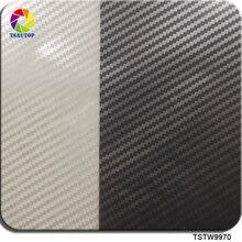 무료 배송 0.5m * 2m/10m TSTW9970 실버 및 투명 탄소 섬유 물 전송 인쇄 PVA 필름