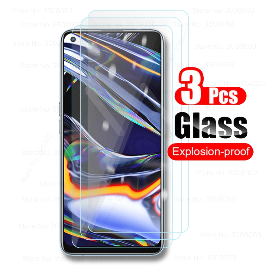 3 pçs vidro para realme 5 6 7 pro vidro protetor realmi 5i 6i 5S 6s real me x2 pro xt x lite c3 c15 c11 protetor de tela filme