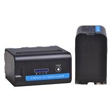 2X 7.2V 7200mAh NP-F960 NP-F970 Li-Ion Battery with LED Power Indicator for Sony NP-F550 NP-F770 NP-F750 NP-F975 F930 F960 F970