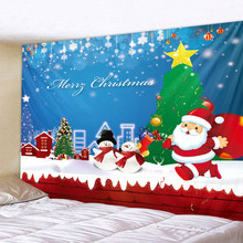 Santa Claus Art Home Wall Hanging Tapestry Wall Ornamentation Christmas Wall Decor High Quality Tapestry Home Decor 6 size