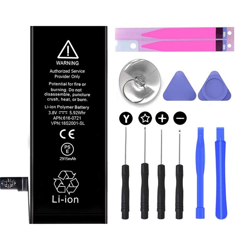 In-built-battery replacement & tool kit conjunto de ferramentas de reparo da bateria li-ion kit para iphone 4 4S 5 5c 5S 6s 7 7plus 8 x
