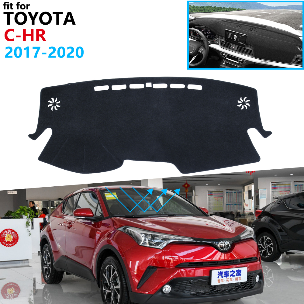 Dashboard Cover Protective Pad for Toyota C-HR 2017 2018 2020 CHR C HR Car Accessories Dash Board Sunshade Carpet Dashmat Mat