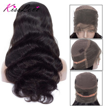 Brazilian Body Wave 360 Lace Frontal Wig for Black Women Remy Human Hair Wigs With Baby Hair Pre Plucked Bleached Knots