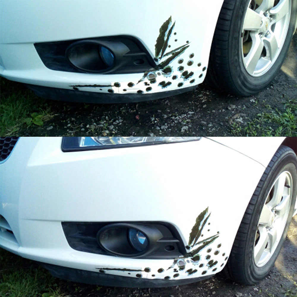 1Pcs מצחיק רכב מדבקות 3D Bullet חור רכב צד מדבקות לרכב-מכסה אופנוע שריטה מציאותי כדור חור עמיד למים מדבקות