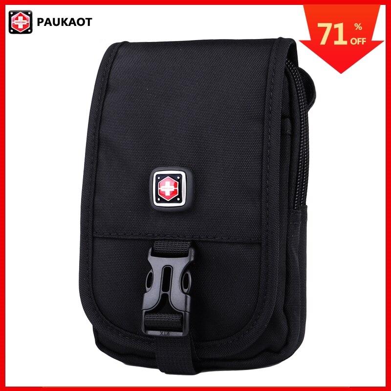 PAUKAOT Men Casual Belt Bag Waist Packs Travel Fanny Waterproof Mobile Phone Pouch