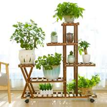 5 Tiers Wooden Flower Rack Plant Stand Multi Flower Stand Shelves Bonsai Display Shelf Yard Garden Patio Balcony Flower Stands