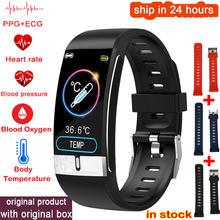 2021 relógio inteligente masculino e66 temperatura do corpo ecg ppg à prova dwaterproof água esporte pulseira de oxigênio no sangue freqüência cardíaca smartwatch para ios android