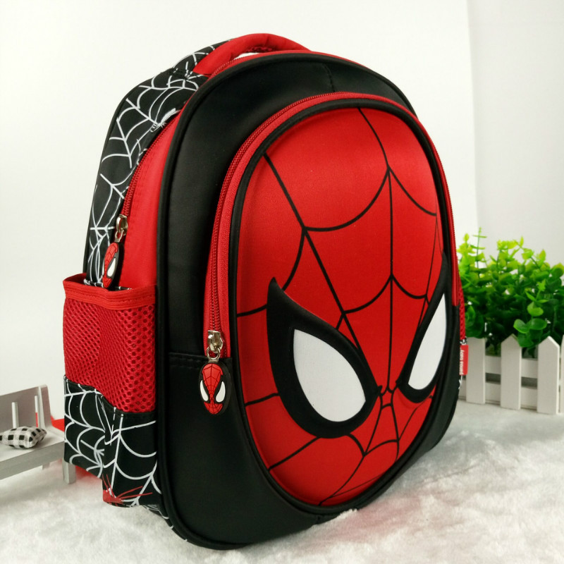 2019 Children's  Boy Spider Man Cute New  School Bag  3D Stereo Backpacks Baby Boys Backpack Kids Children Cartoon School Bags