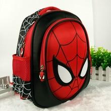 2019 Children spiderman Backpacks Super heroes New School Bag 3D stereo Baby Boy