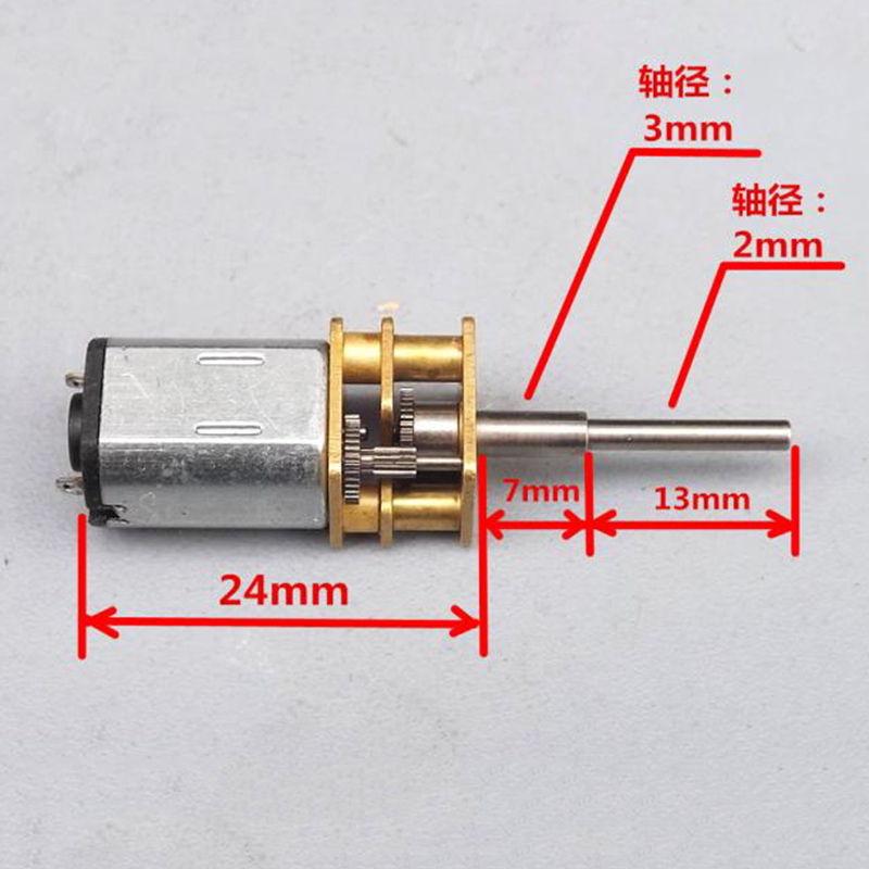 20mm DC 3V 3.7V 3150RPM Micro 130 Planetary Gearbox Gear Motor 22mm Long Shaft