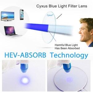 Image 2 - Cyxus bleu lumière ordinateur lunettes pour bloquer les maux de tête noir PC lentille jeu lunettes unisexe (hommes/femmes) 8582