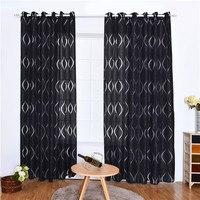 현대 커튼 웨이브 버블 컷 거실 용 꽃 스크린 커튼 Tulle Window Drapes Sheer For Bedroom