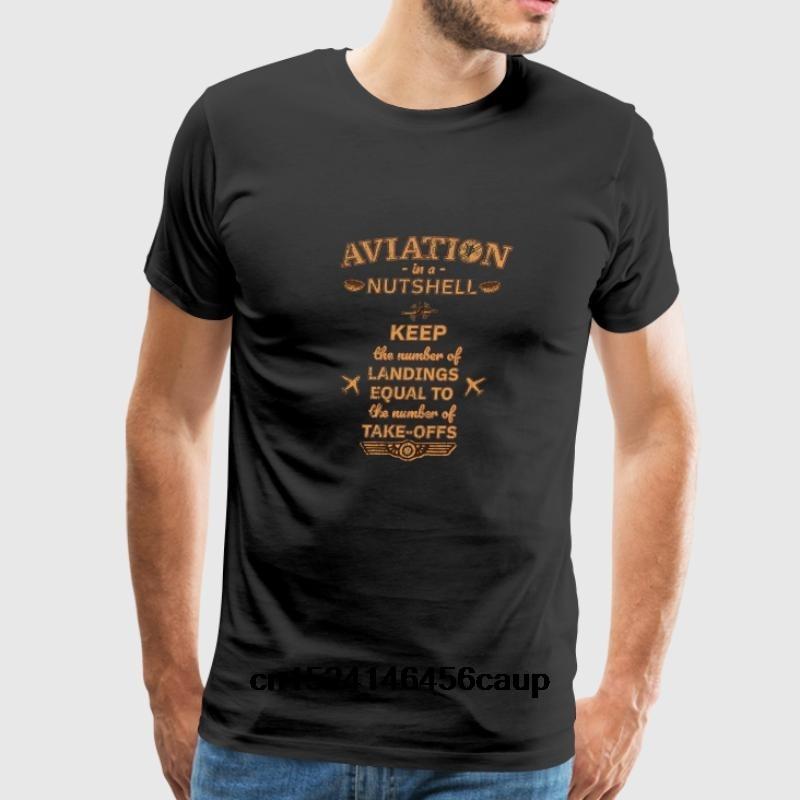 100% Cotton O-neck Custom Printed Men T shirt Aviation In A Nutshell Gift Women T-Shirt
