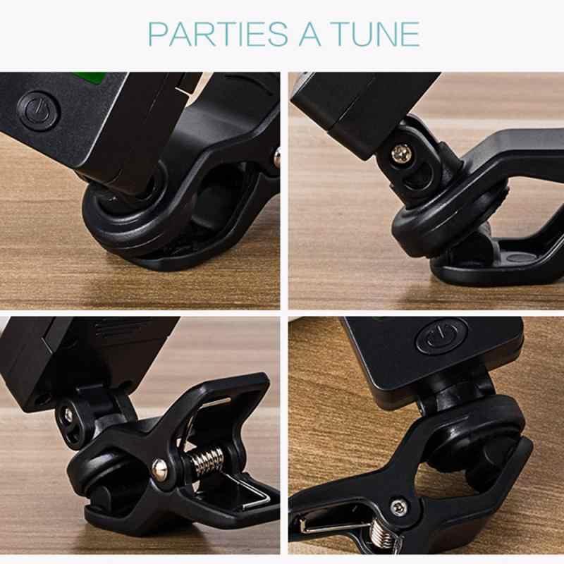 Digital Acoustic Guitar Tuner Clip-on Accordatore per Chitarra Elettrica Basso Violino Ukulele 2020 HOT accessori per Chitarra