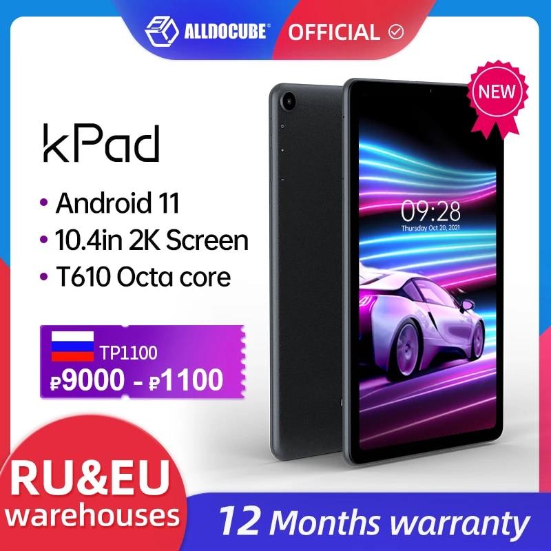 World Premiere ALLDOCUBE kPad 10.4 inch Tablet PC Android 11 Unisoc T610 2K Screen  4GB RAM 64GB ROM  4G Lte PhoneTablets