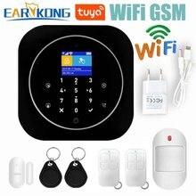 Wifi Gsm Alarmsysteem Ios Android Tuya App Rfid Lcd Touch Toetsenbord 433Mhz Draadloze Sensor Kit Alarm 11 talen SchakelaarAlarm Systeemkits
