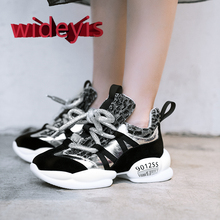 Shoes woman WIDEYIS leather shoes suitable for sports flat