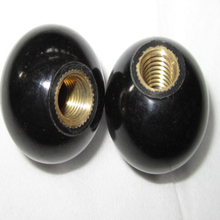 2 Pcs Black Round Plastic M8 Thread 32mm Dia Ball Lever Knobs