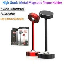 Tikigogo yüksek dereceli araba masası Metal manyetik telefon tutucu standı cep telefonu mıknatıslı araba telefonu tutucu Stand braketi montaj