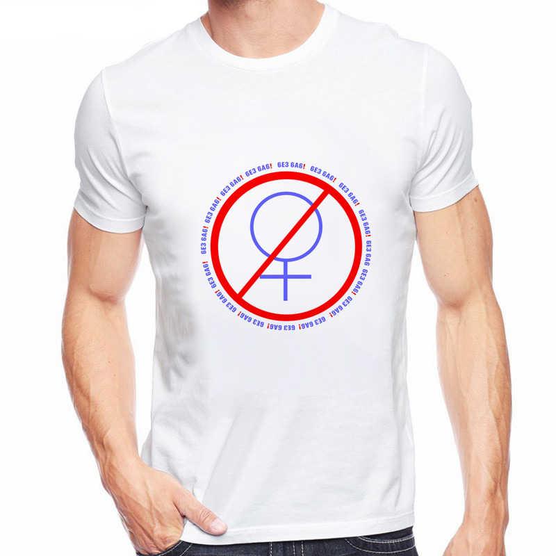 Camiseta de marca para hombres moda divertida carta rusa no sin mujer estampado Orgullo Gay símbolo femenino verano Hipster camisetas Q6342