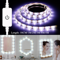 Tocador con espejo Make Up Spiegel Licht String USB 5V Dressing Tisch Mirrror Lampe Band Led Eitelkeit Spiegel Licht Tocador maquillaje-in Eitelkeitsbeleuchtung aus Licht & Beleuchtung bei
